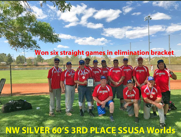 NW Silver 60's take a 3rd after winning 6 straight elimination bracket games @ SSUSA Worlds 2018