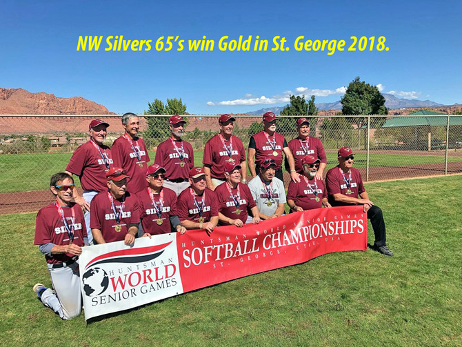 NW Silvers 65's win Gold in St. George 2018