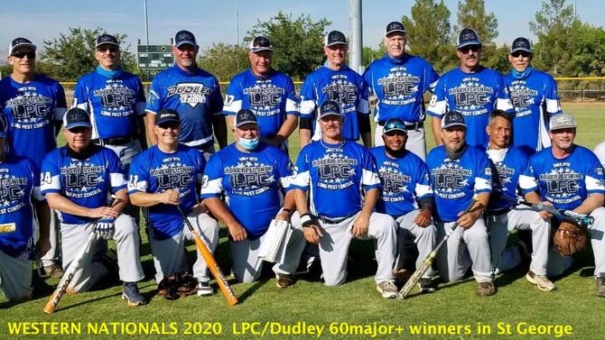 NORTHWEST SENIOR SOFTBALL AUGUST 16, 2020: LPC/Dudley 60-major+ SSUSA Champions>>>