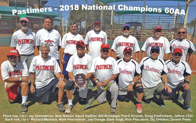 Pastimers Win 60AA National Championship 2018