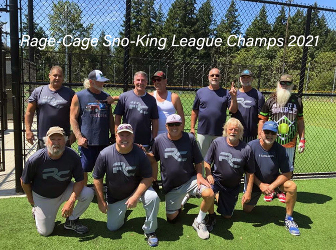 "Sno-King Senior Softball League Champions - ""Rage Cage"" 2021"