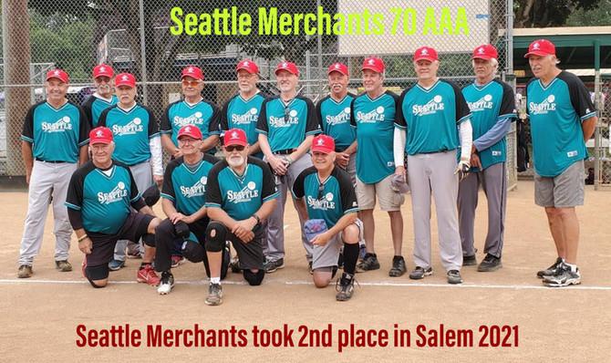 Seattle Merchants 70 AAA take a 2nd in Salem at the Jim Sherman Tournament