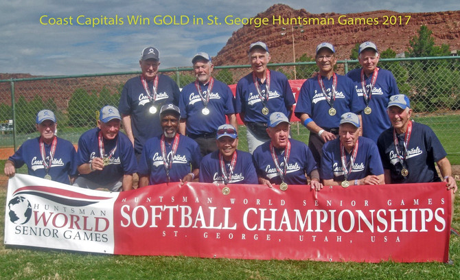 Coastal Capitals 80's Win GOLD Medal in George 2017