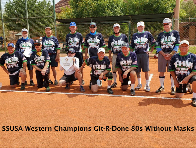 SSUSA Western Champions Git-R-Done 80s With and Without Masks 2020