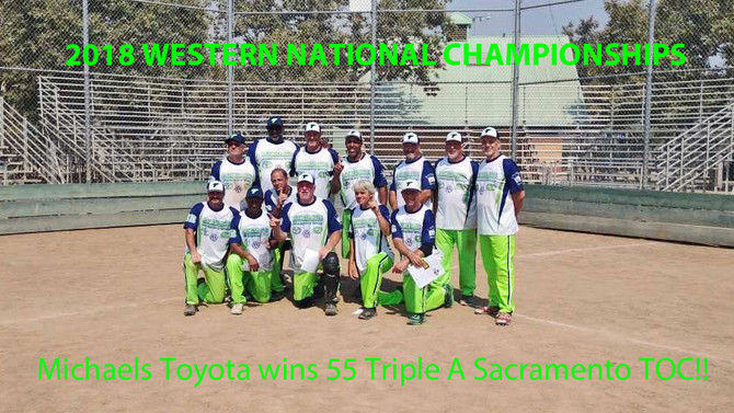 Michaels Toyota Win 55's AAA @ Western Nationals in Sacramento, CA 2018