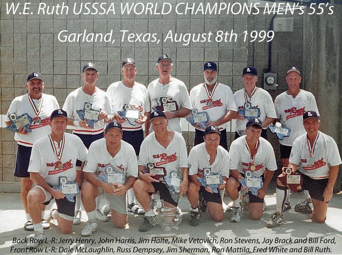 ***** Retro ***** Bill Ruth's 1st Senior Softball Championship 1999!
