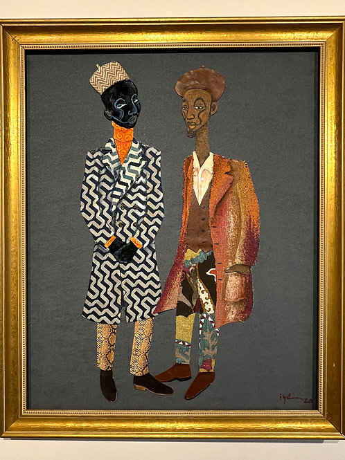Iyaba Ibo Mandingo - 2 brothers in trench coats