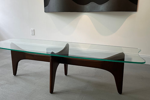 Set of Three Adrian Pearsall Stingray Glass Tables