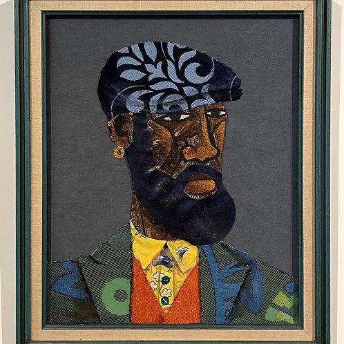 Iyaba Ibo Mandingo - Brother in the flowered blazer black porkpie hat