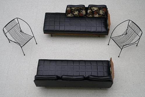 Pair of Mid Century sofas