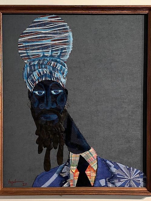 Iyaba Ibo Mandingo - Rastaman in blue turban