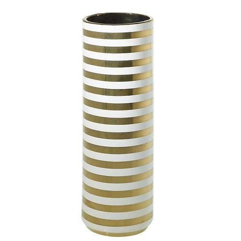 Spade Vase Gold Stripes - 003C