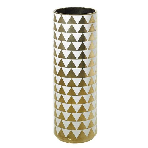 Spade Vase Gold Triangles - 002C