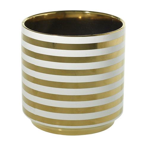 Large Spade Pot Gold Stripes - 003