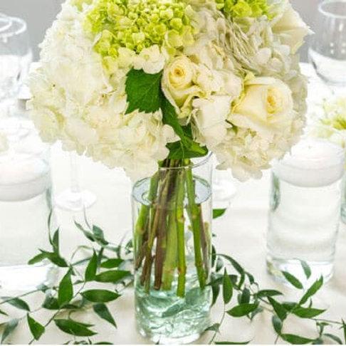 9 in. Cylinder Glass Vase