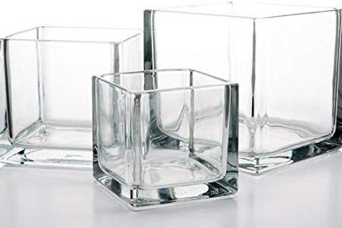 """5"""" Richland Square Glass Vase"""