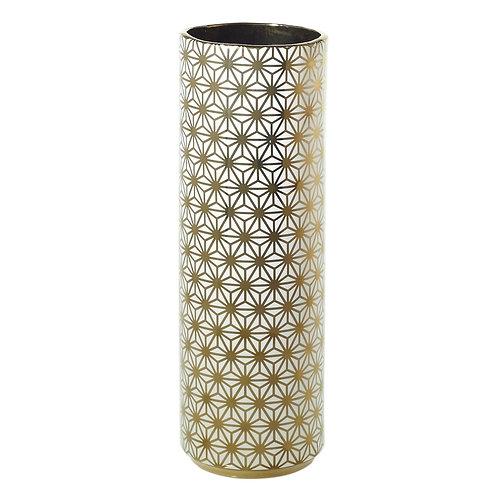 Spade Vase Gold Flowers - 001C