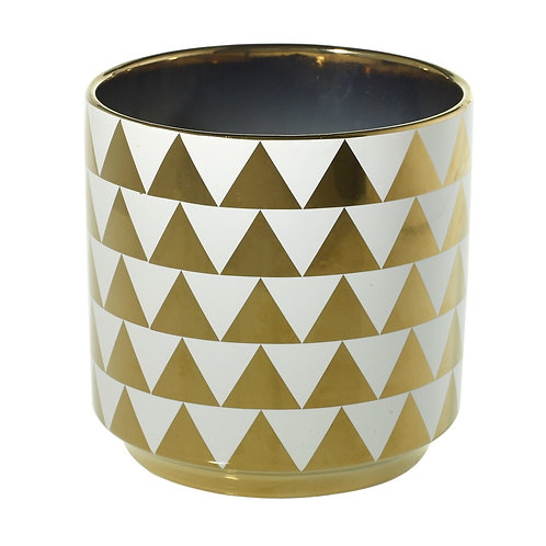 Large Spade Pot Gold Triangles - 002B