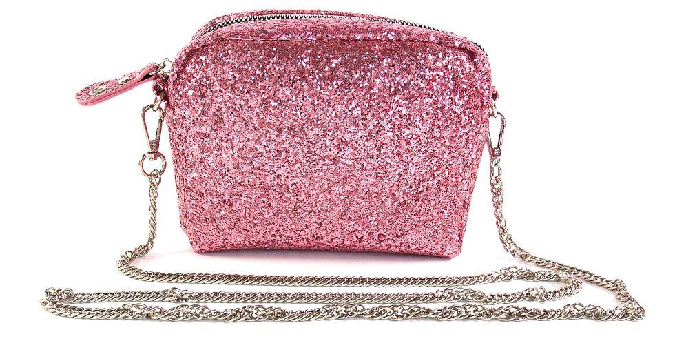 Glitter Crossbody Handbag - Pink