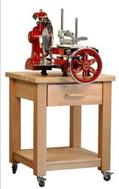 Trancheuse manuelle avec meuble à roulette