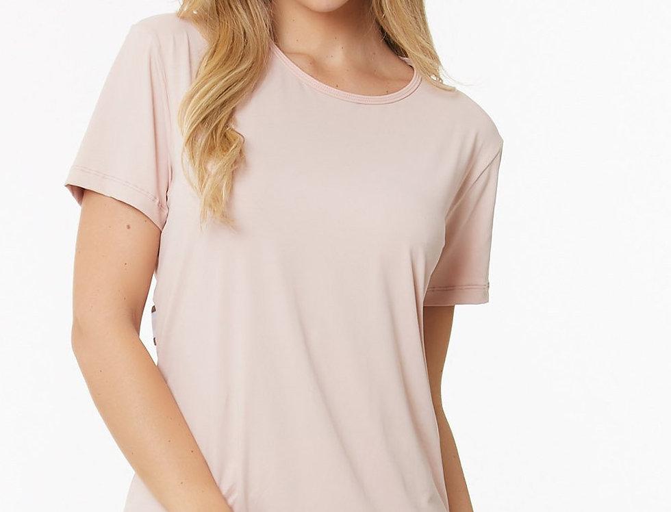 Adrielle Blush Short Sleeve Top