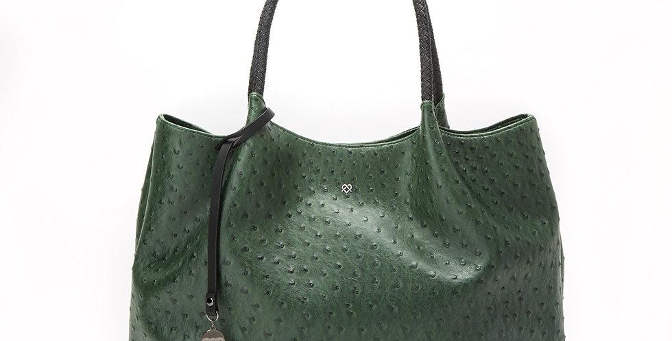 Naomi - Dark Green Vegan Leather Tote Bag