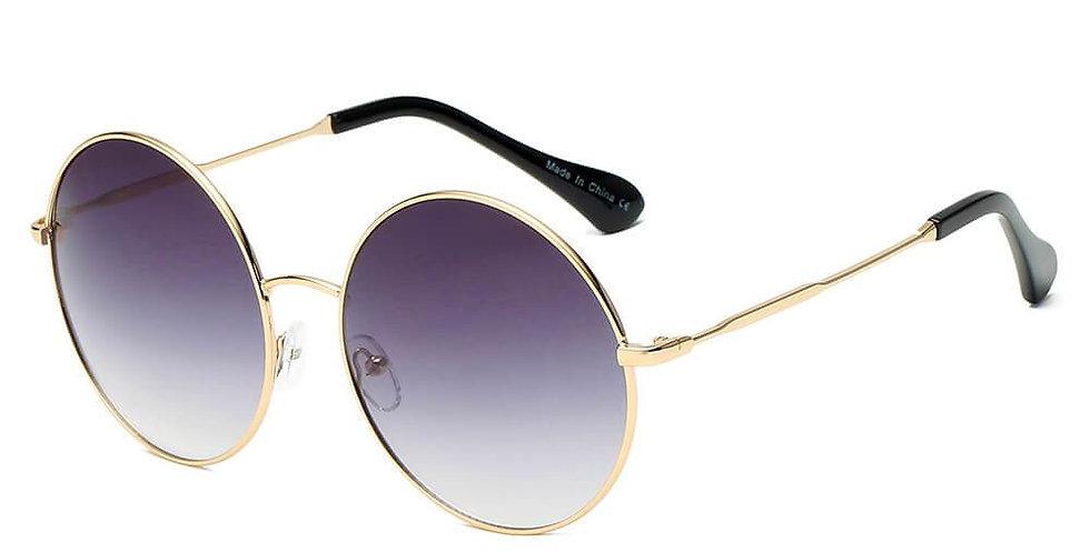HERMISTON   S1067 - Women Metal Round Sunglasses