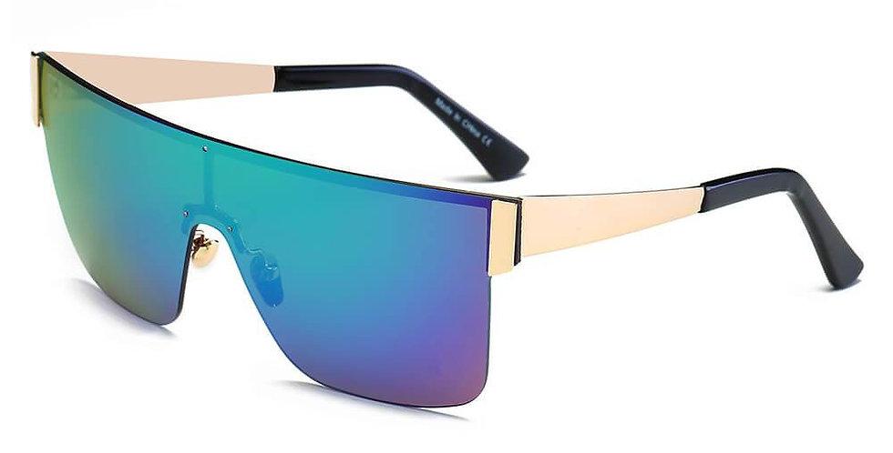 CHARENTON   S2031 - Women Oversized Square Shield Wrap Around Sports Sunglasses