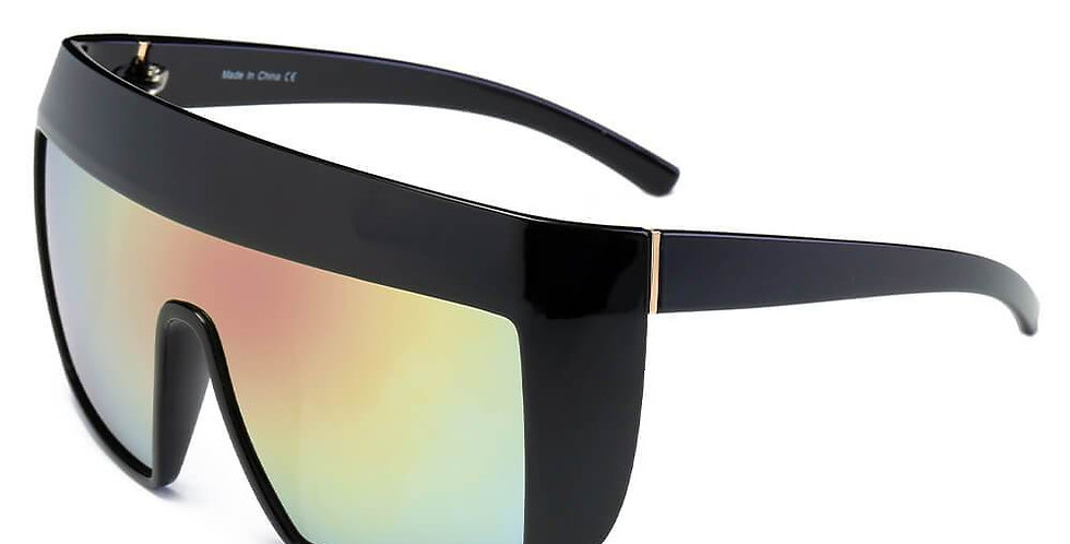 FOLSOM   S2043 - Women Oversize Shield Sunglasses