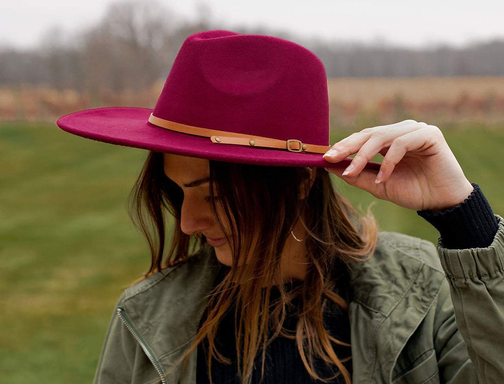 Wide Brim Felt Hat- New Colors