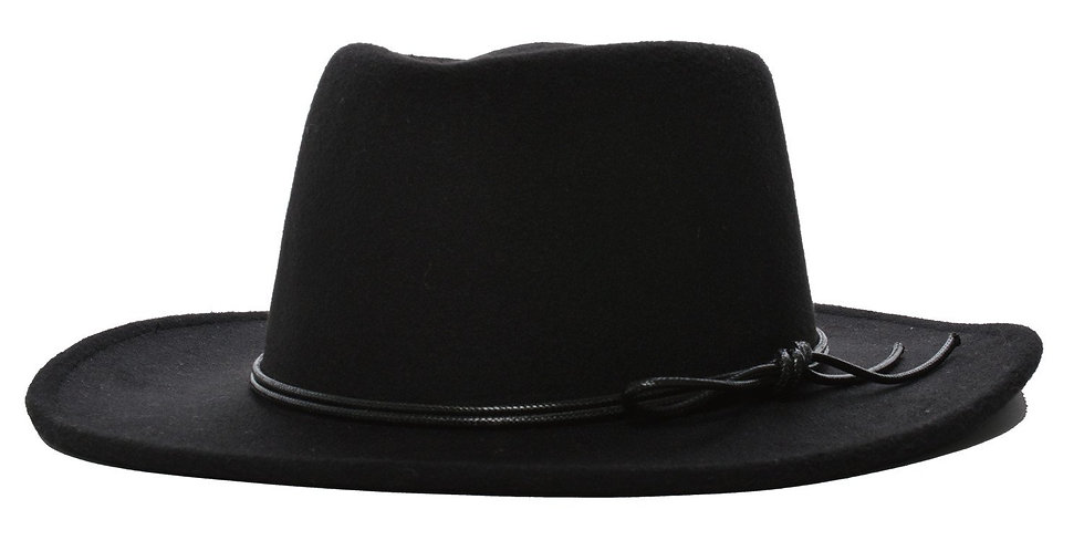 Mechaly Women's Jay Black Homburg Vegan Hat