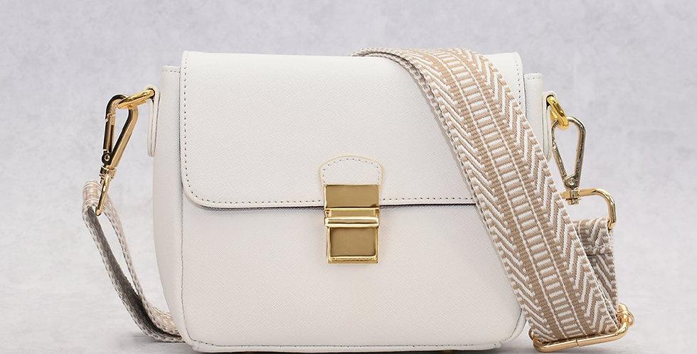 Tiny Leather Handbag -White (Option 1)