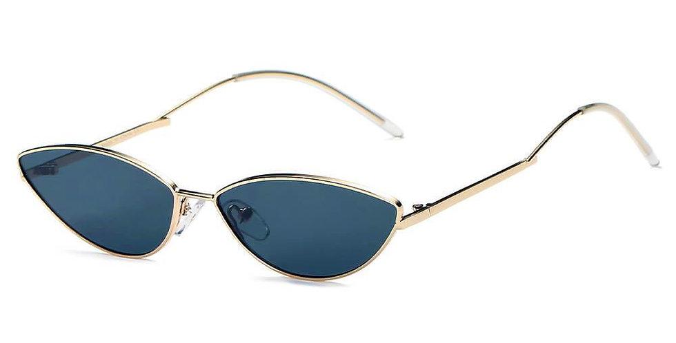 FLINT   S3012 - Small True Retro Vintage Slim Metal Sunglasses