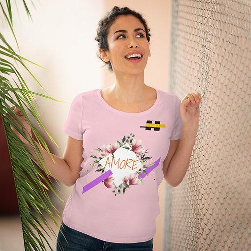 T-shirt amant bio pour femme Rose (AMORE)