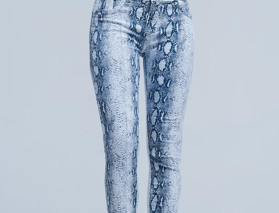 White Reversible Jeans