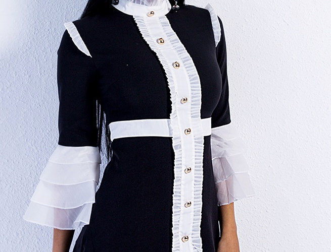 Black Flare Dress