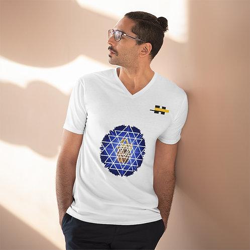 T-shirt léger à col en V pour hommes Blanc (FLOTUS)