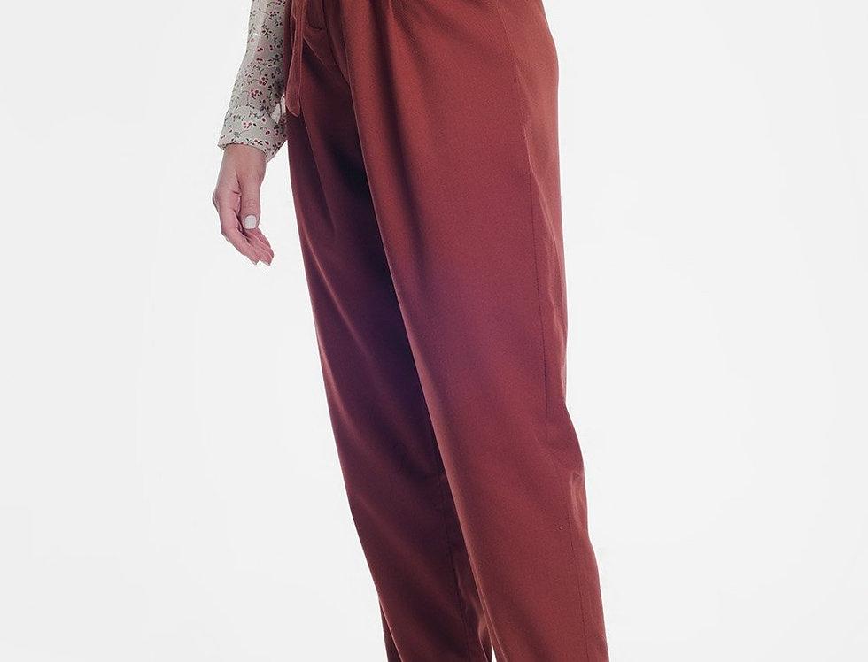 Orange Formal Pants With a Belt