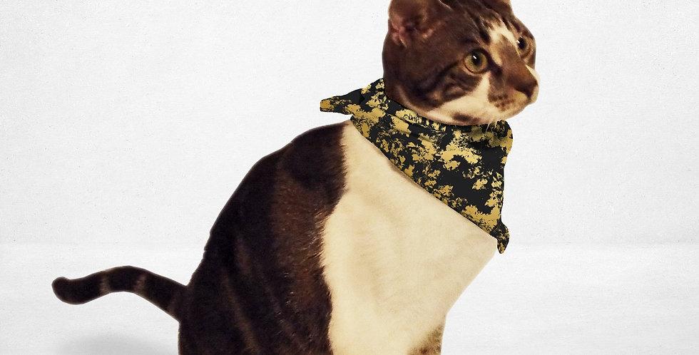 Black Gold Distressed Cat & Dog Bandana