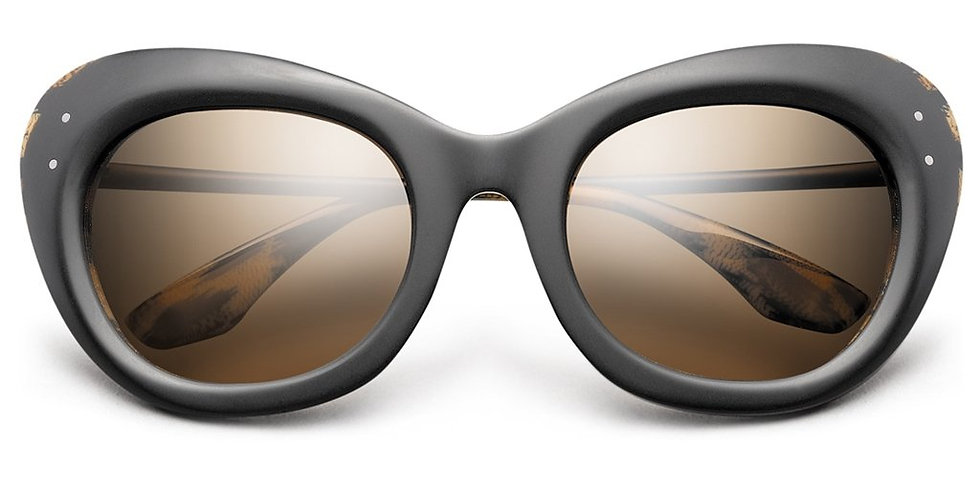 Faye: Matte Black - Polished Leopard / Bronze Gradient Lens