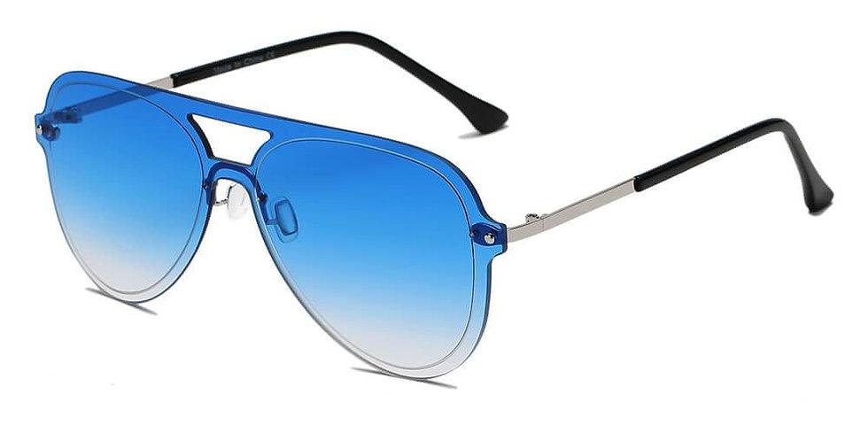 BELFAST | S2065 - Unisex Flat Single Lens Aviator Fashion Sunglasses