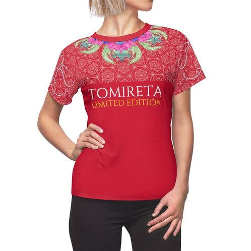 T-shirt AOP Cut & Sew pour femme Rouge (MORSE)
