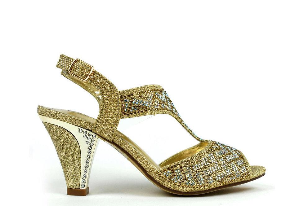 Muted Elegance Heel Gold