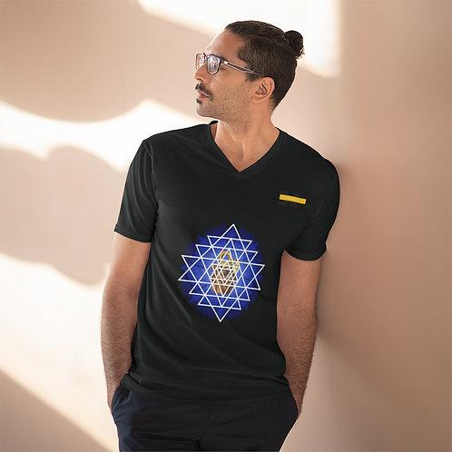T-shirt léger à col en V pour hommes Noir (FLOTUS)