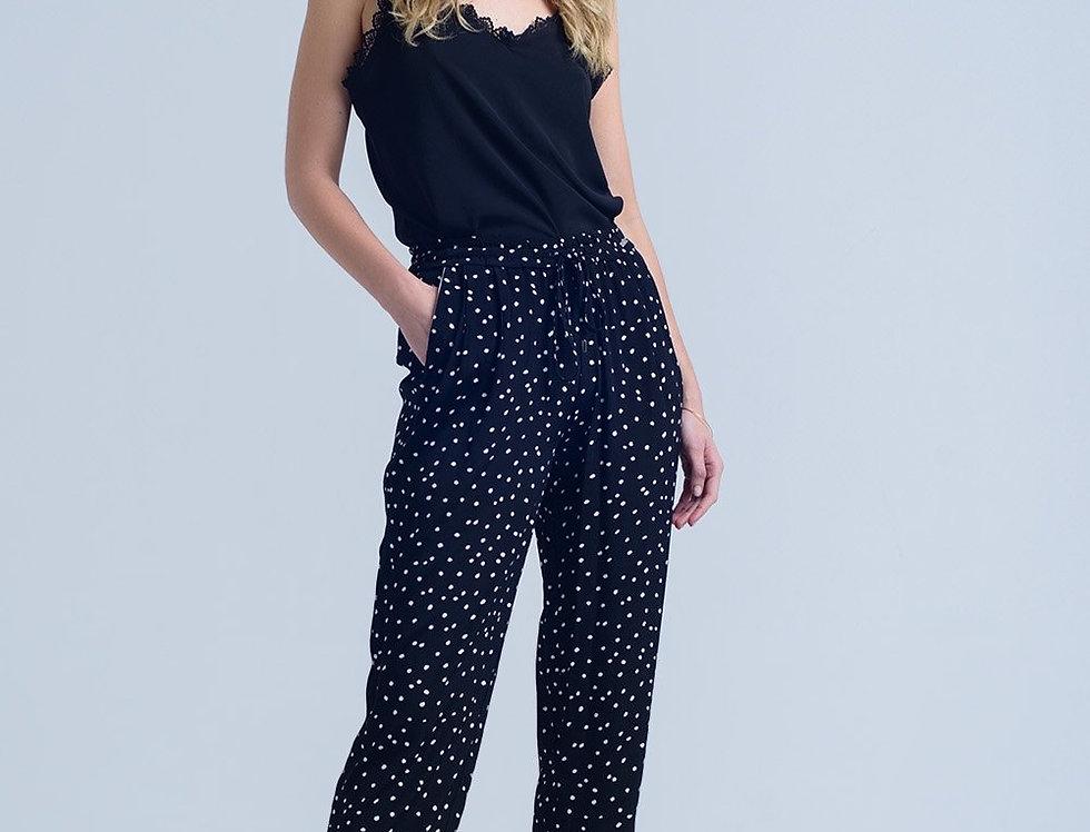 Black Polka Dot Pants