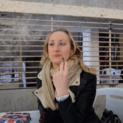 Smoking Woman testing new Breeds at the Annual Cannabis Cup, Uruguay