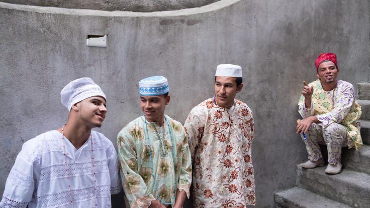 Fellas wearing their tunic