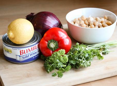 Mediterranean Tuna and Kale Salad: Batch Cooking!