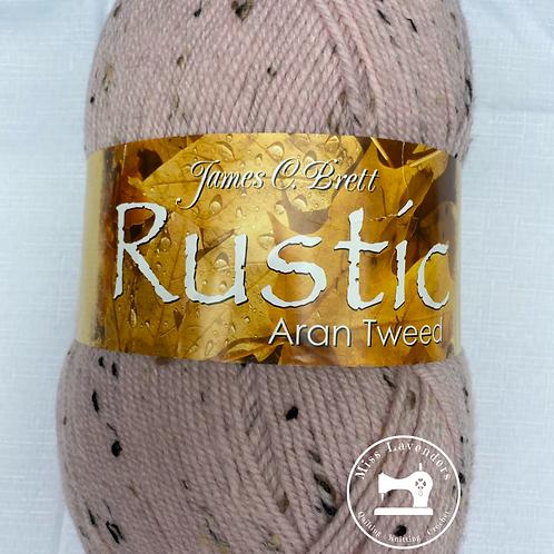James C Brett Rustic Aran with Wool 400g -  Pink DAT3