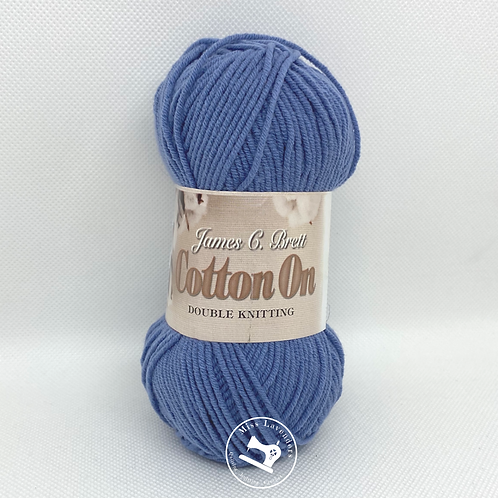 James C Brett Cotton On DK 50g Blue C027
